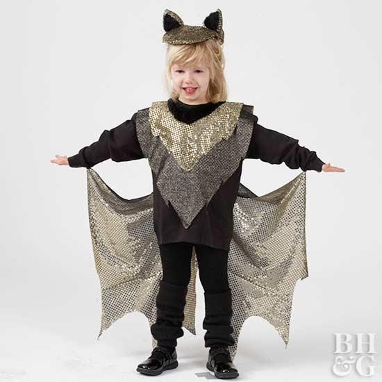 Make an Easy Kid's Bat Halloween Costume