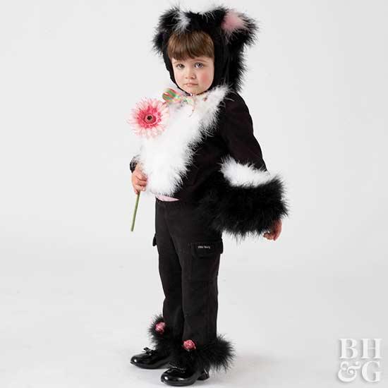Make a Kid's Skunk Halloween Costume