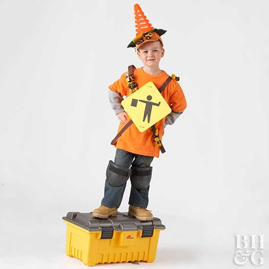 Make a Construction Boy Halloween Costume