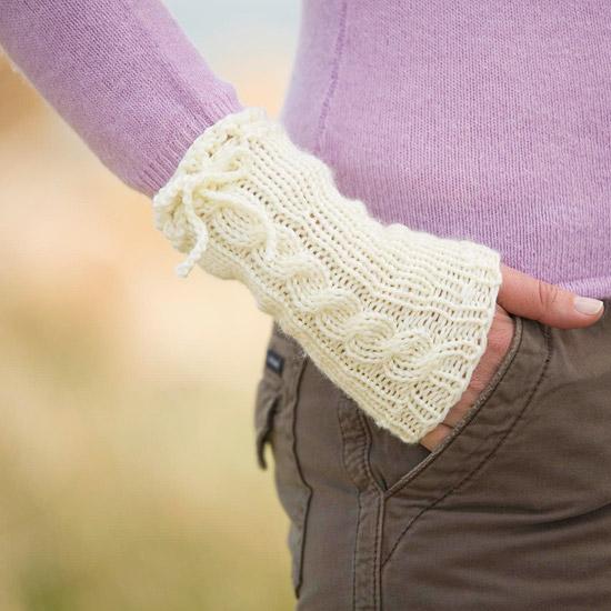 Cable Knit Wristlets