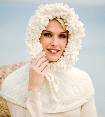 White Hooded Capelet