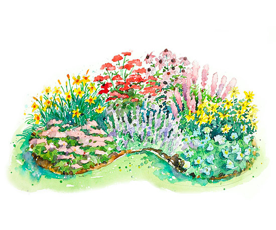 Extra-Easy Sun-Loving Garden Plan