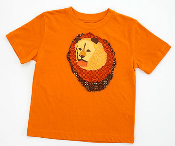 Lion Applique Kid's T-Shirt