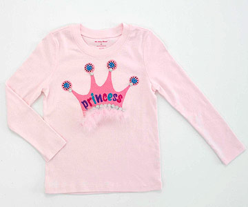 Princess Shirt Crown Applique