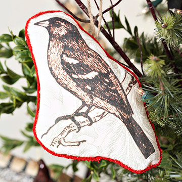Pretty Hand-Sewn Bird Ornament