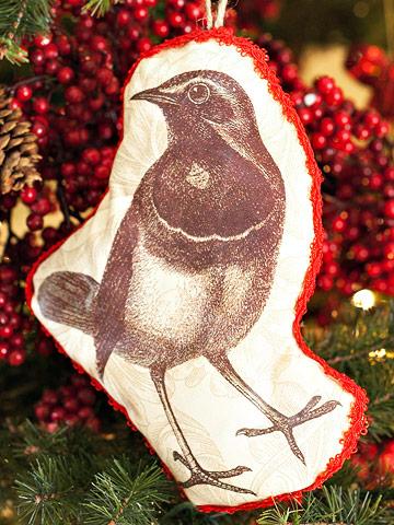 Handmade Bird Ornament for the Christmas Tree
