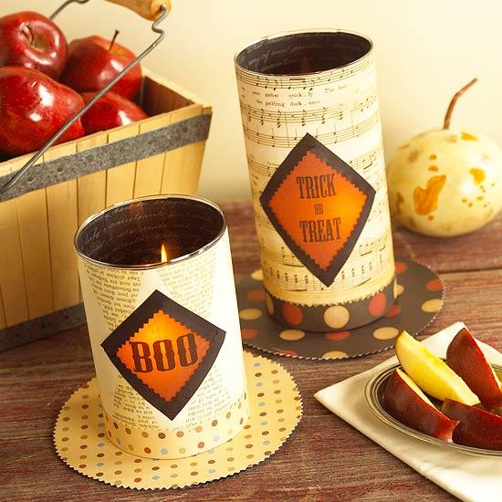 Make a Halloween Candle Display