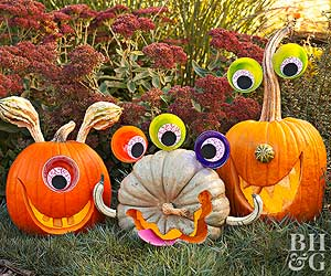 Quick and Easy Painted Pumpkins from Better Homes and Gardens