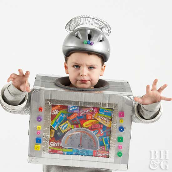 Make a Candy-Collecting Robot as a Kid's Halloween Costume