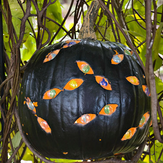 Carve a Pumpkin with Eerie Eyes