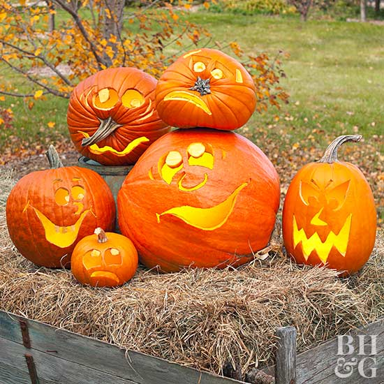 Make a Goofy Group of Pumpkins