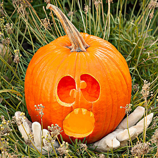 Funny Scared Pumpkin
