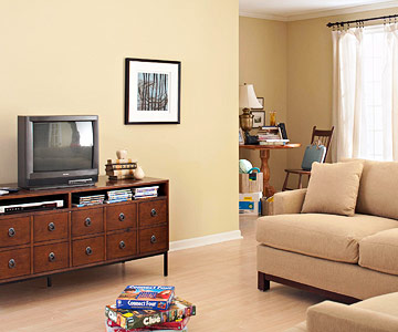 living room with brown furniture.  3 Step Decorating Makeover A Cozy Living Room