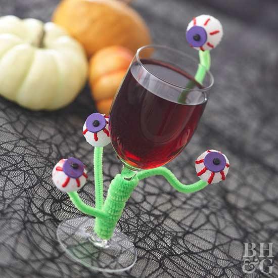 Make an Eerie Eyeballs Glass for Halloween