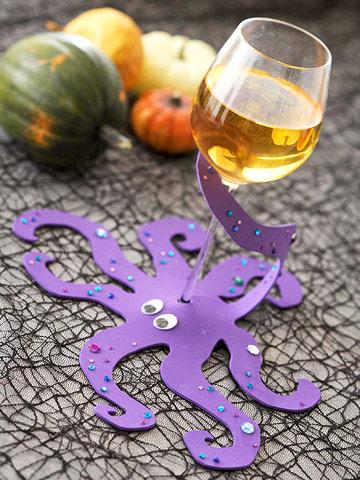 Make an Octopus Wineglass Wrap