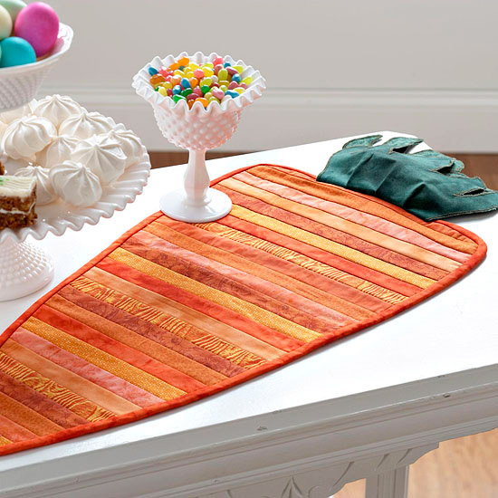 Quilt a Carrot Table Runner for Easter