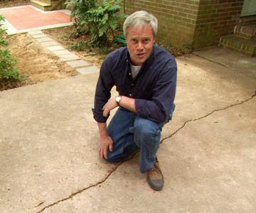 Repair cracks in a concrete driveway diy concrete resurfacing solutioingenieria Image collections