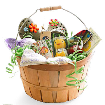 Eco friendly easter basket giving green for easter negle Choice Image