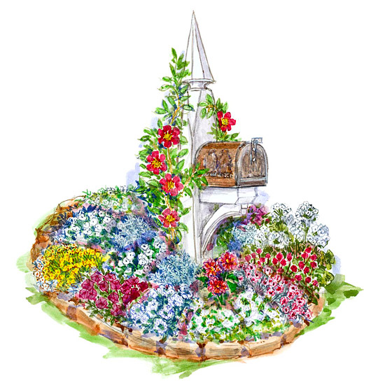 Small garden plans for Small colourful garden ideas