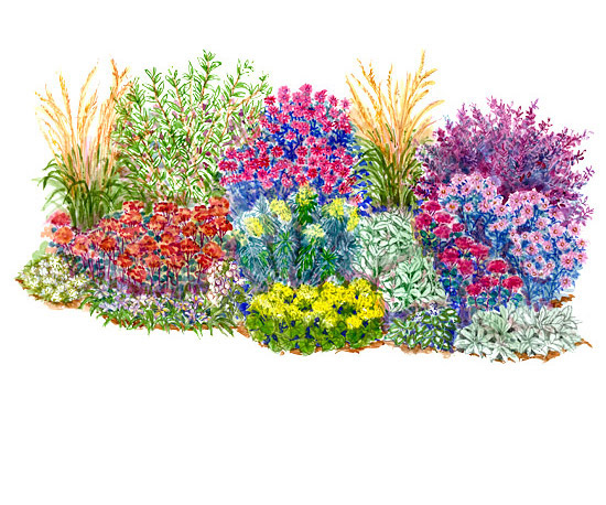 No fuss garden plans for Perennial garden design zone 9