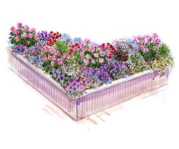 Flowery Deck Garden Plan