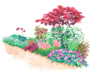 garden plans for shady spots - Flower Garden Ideas Shade