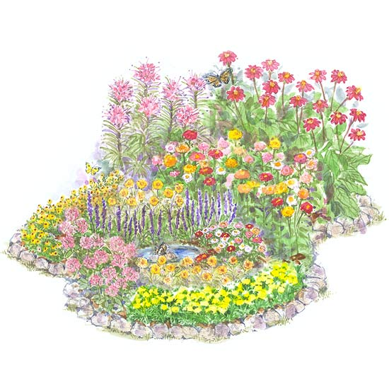 Garden plans that celebrate summer for Garden planting designs