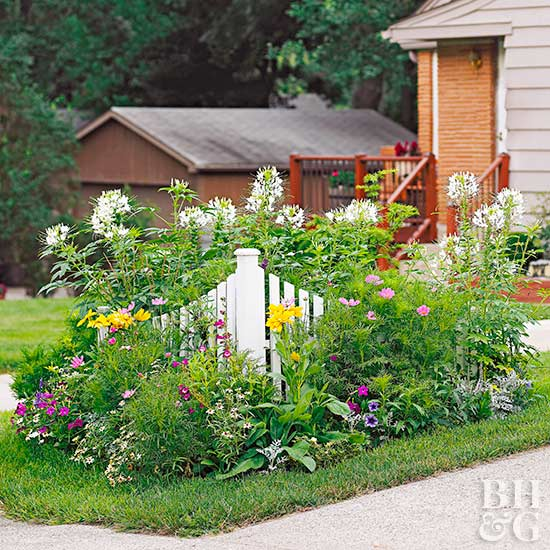 Tiny corner garden plan for Easy perennial garden plan