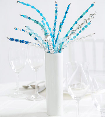 Glamorous Beaded Wedding Centerpiece