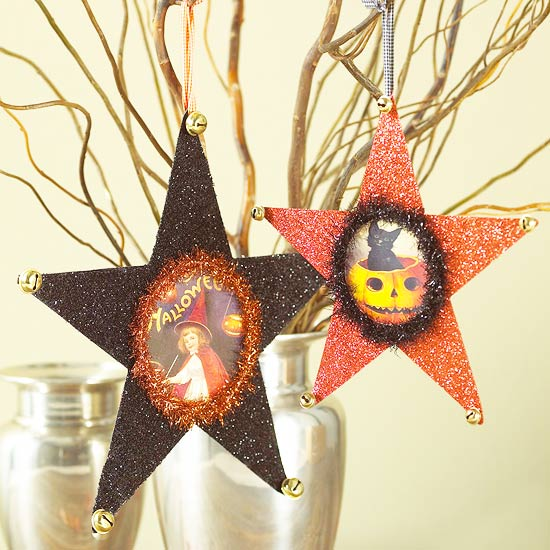 Make a Star-Shape Ornament for Halloween
