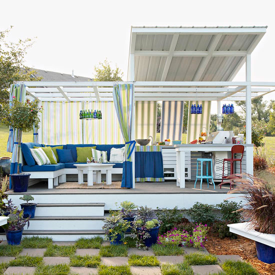 Create a fun and budget friendly outdoor room for Budget garden rooms