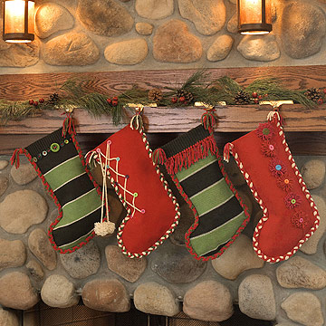 Make a Pretty Christmas Stocking from a Sweater