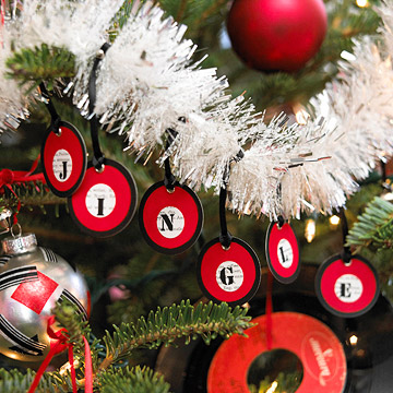 Embellish Christmas Tree Garland with Tags and Alphabet Stickers