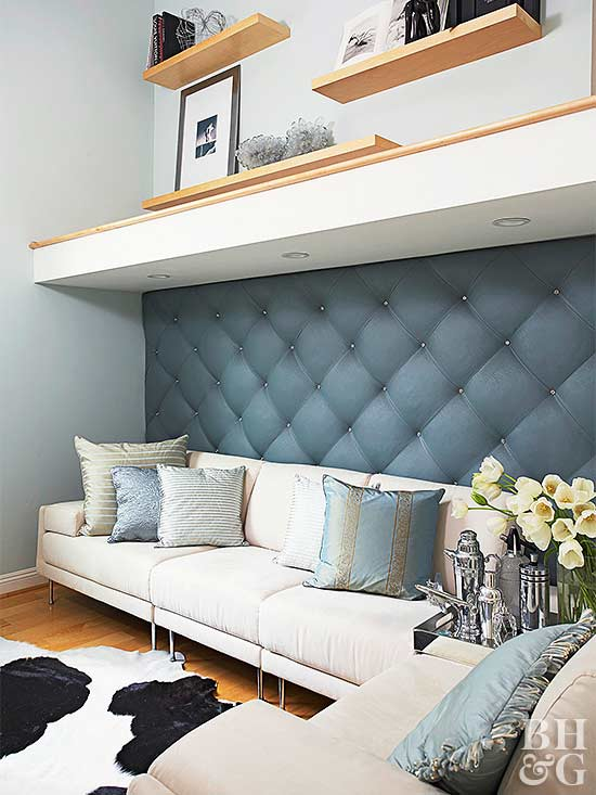 Do it yourself upholstered wall score major style points with an upholstered wall this luxe look is perfect for rooms that need a little decorating love plus fabric covered walls make solutioingenieria Choice Image