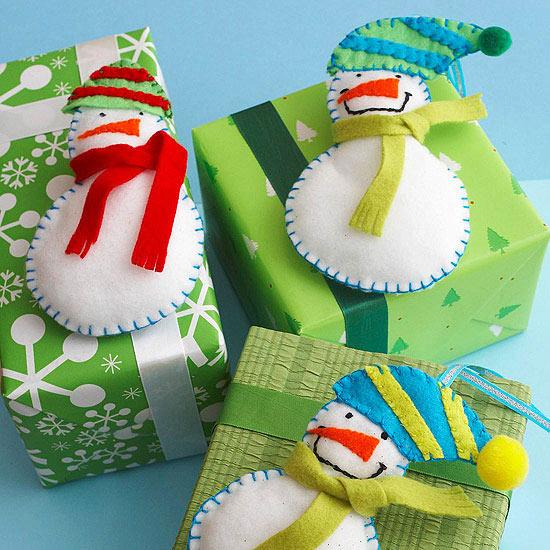 Fun Felt Snowmen Decoration for Christmas