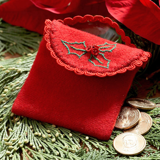 Make a Felted-Wool Purse to Use as a Christmas Ornament