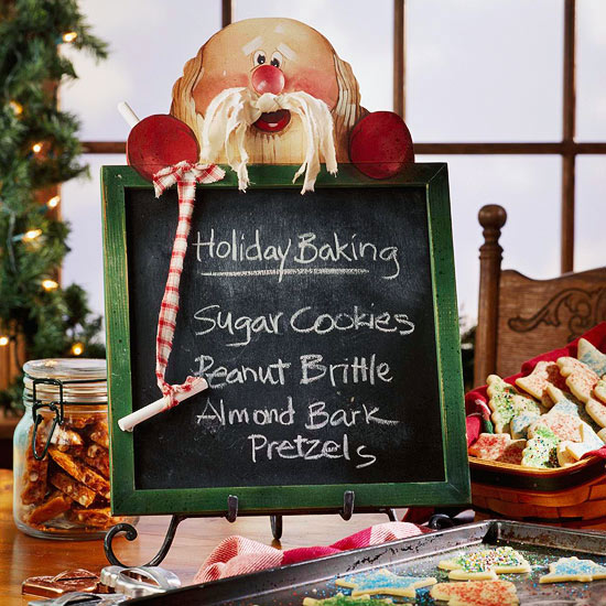 Create a Christmas Chalkboard Decorated with Santa Claus