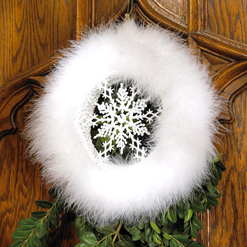 Dancing Snowflake Christmas Wreath
