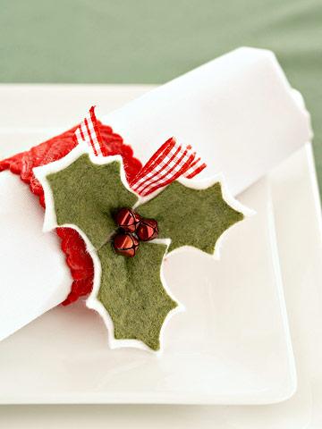 Christmas Holly Napkin Ring
