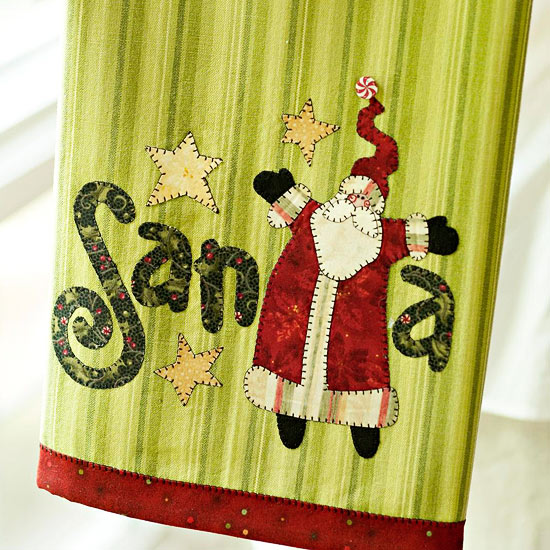 Make a Santa Claus Tea Towel for Christmas
