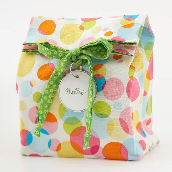 Easy-to-Sew Reusable Gift Bag