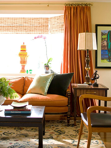 orange curtains living room house tours traditional with a color kick 13301