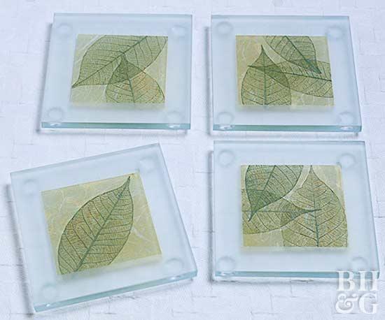 Leaf Motif Coasters