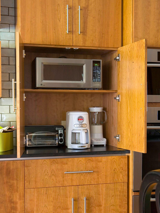 Clever Ways Store Small Kitchen Appliances