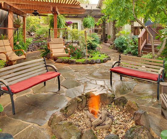 An Organic Fire Pit