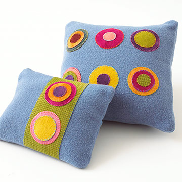 Bright Felt Circles Pillows