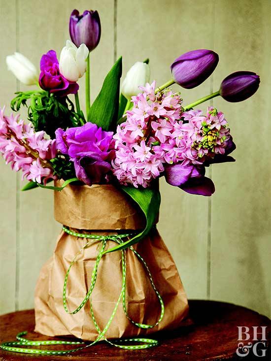 Easy Paper Bag Vase