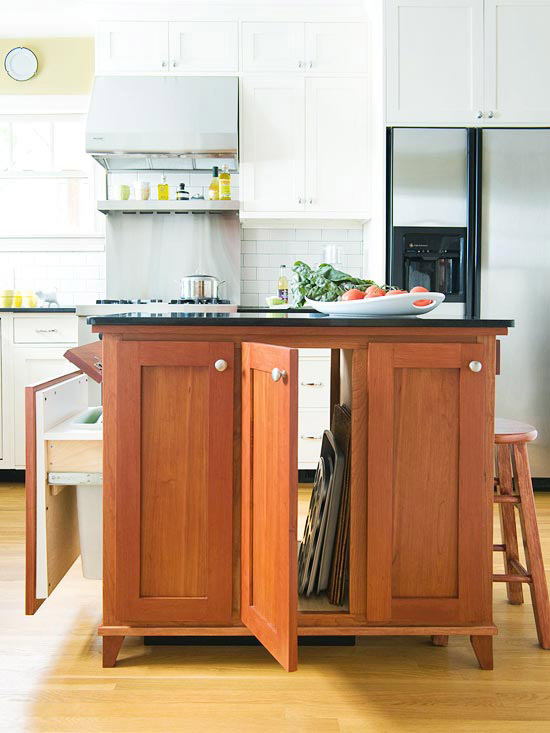 small kitchen island ideas small space kitchen island ideas bhg 30981