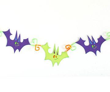Craft a Bat Garland for Halloween