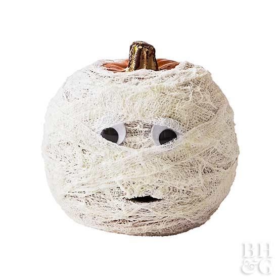 Gauzy Glow Pumpkin for Halloween
